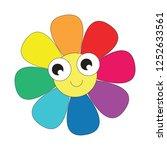 rainbow seven colors flower... | Shutterstock .eps vector #1252633561