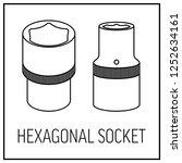 Hexagonal Socket  Isolated On A ...