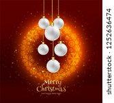 beautiful merry christmas...   Shutterstock .eps vector #1252636474