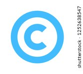 the copyright symbol  or... | Shutterstock .eps vector #1252638547