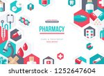 pharmacy banner with flat icons ... | Shutterstock .eps vector #1252647604