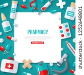pharmacy banner with square... | Shutterstock .eps vector #1252648801