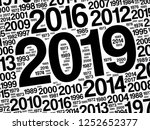 2019 happy new year and...   Shutterstock .eps vector #1252652377