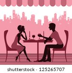 Silhouette Of The Couple In Th...