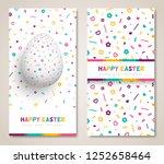 happy easter vertical banners...   Shutterstock .eps vector #1252658464