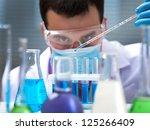 investigator checking test... | Shutterstock . vector #125266409