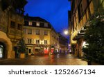the colmar street decorated for ... | Shutterstock . vector #1252667134