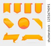 set of orange christmas banners....   Shutterstock .eps vector #1252674091