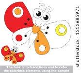 butterfly. dot to dot... | Shutterstock .eps vector #1252685971