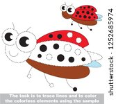 ladybug insect. dot to dot... | Shutterstock .eps vector #1252685974