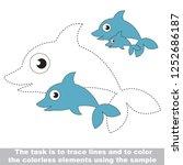 dolphin underwater animal ... | Shutterstock .eps vector #1252686187