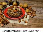 plate with kutia   traditional... | Shutterstock . vector #1252686754