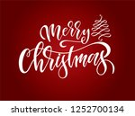 hand sketched merry christmas... | Shutterstock .eps vector #1252700134