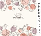 background with porphyra ... | Shutterstock .eps vector #1252712191