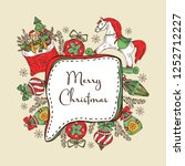 christmas and new year card... | Shutterstock .eps vector #1252712227