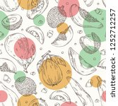 seamless pattern with exotic... | Shutterstock .eps vector #1252712257