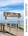 Rod And Reel Fishing Pier On...