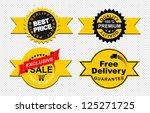 emblem exclusive sale | Shutterstock .eps vector #125271725