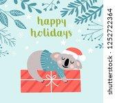cute koala character christmas... | Shutterstock .eps vector #1252722364