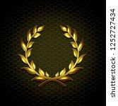 golden laurel wreath vector... | Shutterstock .eps vector #1252727434