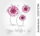 pink valentine dandelion.... | Shutterstock .eps vector #125272784