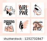 collection of fashion cards for ...   Shutterstock . vector #1252732867