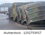 Flat Bottom Boats Stacked Alon...