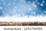 empty winter  snow background ... | Shutterstock . vector #1252756054