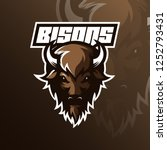Bison Logo Mascot  Design...