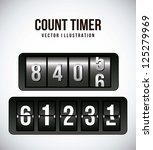 count timer over gray... | Shutterstock .eps vector #125279969