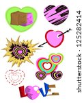 simple heart and love drawing | Shutterstock .eps vector #125282414
