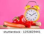 fresh vegetables on a wooden... | Shutterstock . vector #1252825441