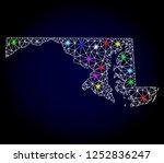 glossy polygonal mesh map of... | Shutterstock .eps vector #1252836247