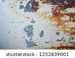 metal rust background  decay... | Shutterstock . vector #1252839001