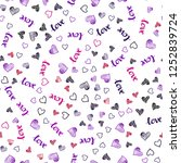 dark pink  blue vector seamless ... | Shutterstock .eps vector #1252839724