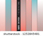 ombre chevron vector patterns... | Shutterstock .eps vector #1252845481