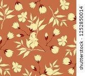 vintage flower illustration  | Shutterstock . vector #1252850014