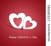 vector happy valentine s card | Shutterstock .eps vector #125285081