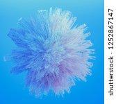 beautiful color smoke. 3d... | Shutterstock . vector #1252867147