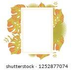 background tropical leaves... | Shutterstock .eps vector #1252877074