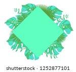 background tropical leaves... | Shutterstock .eps vector #1252877101