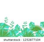 background tropical leaves... | Shutterstock .eps vector #1252877104