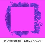 background tropical leaves... | Shutterstock .eps vector #1252877107