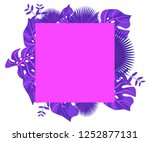 background tropical leaves... | Shutterstock .eps vector #1252877131