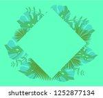background tropical leaves... | Shutterstock .eps vector #1252877134