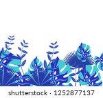 background tropical leaves... | Shutterstock .eps vector #1252877137