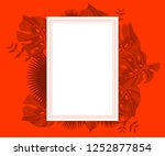flower frame monstera ufo green ... | Shutterstock .eps vector #1252877854