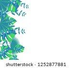 flower frame monstera ufo green ... | Shutterstock .eps vector #1252877881