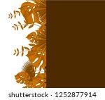 flower frame monstera ufo green ... | Shutterstock .eps vector #1252877914