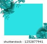 flower frame monstera ufo green ... | Shutterstock .eps vector #1252877941